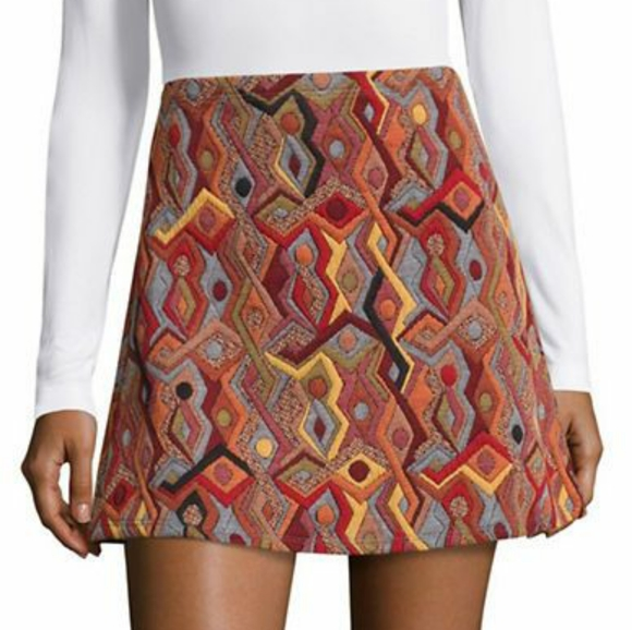 Design Lab Lord & Taylor Dresses & Skirts - Design Lab Lord & Taylor Jacquard Flared Skirt